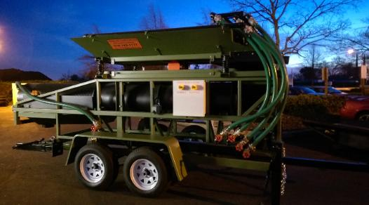 portable gold & diamond mining trommel wash plant by Heckler Fabrication