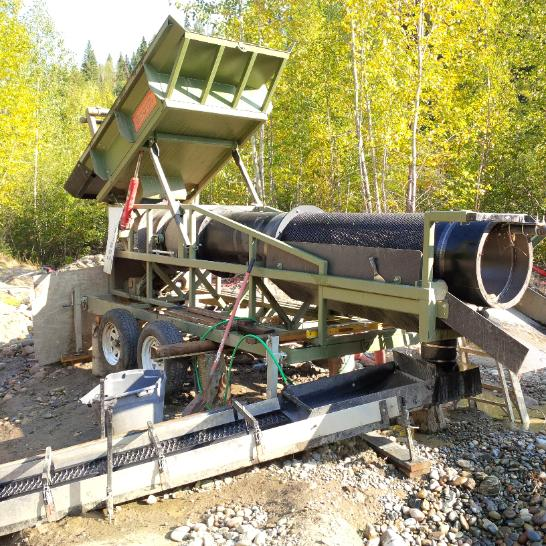portable gold & diamond mining trommel wash plant heckler fabrication